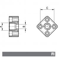 Flange Aluminio
